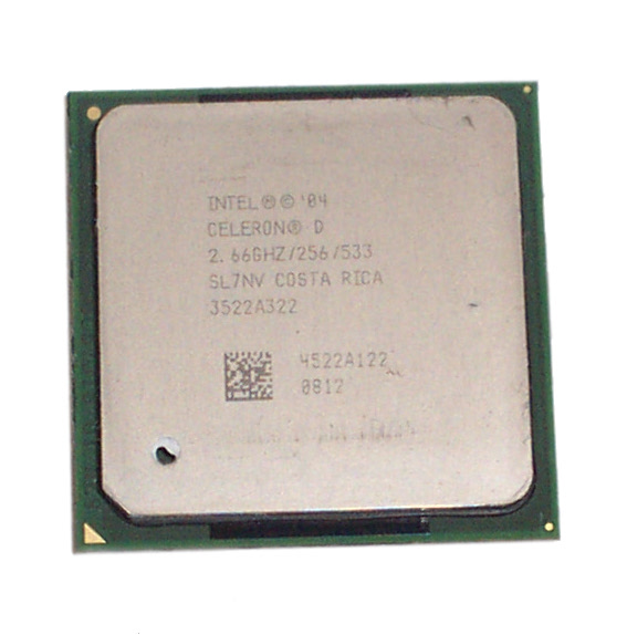Intel SL7NV Celeron D 2.66GHz 256KB Cache 533MHz FSB Socket 478 Processor