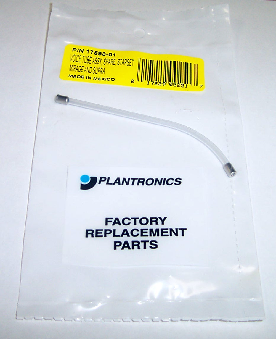 New Plantronics 17593-01 Clear Voice Tube