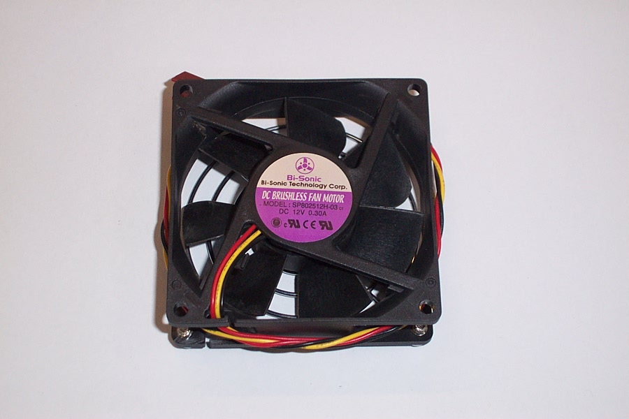 Bi-Sonic SP802512H-03 12V 0.30A Case Fan- 3-Wire, 3-Pin Connector