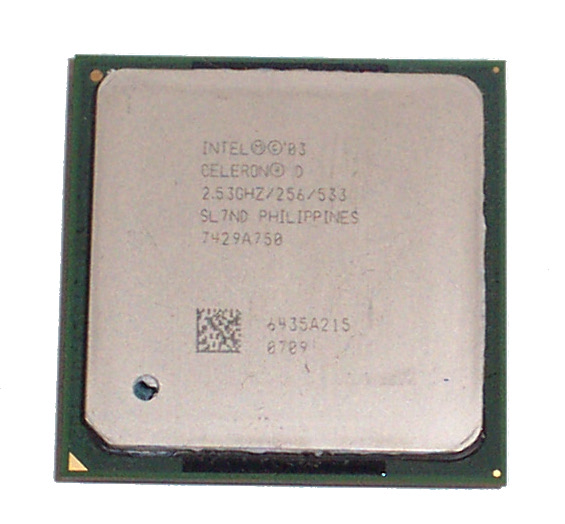 Intel SL7ND Celeron 2.53GHz 256KB Cache 533MHz FSB Socket 478 Processor