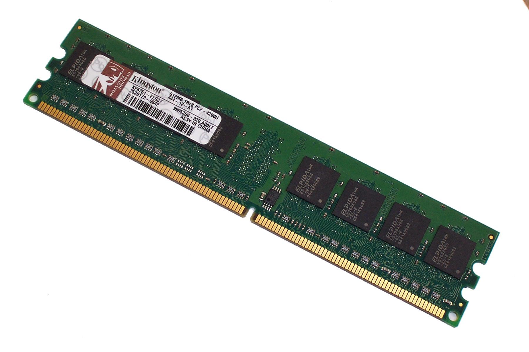 Kingston KF6761-ELG37 512MB PC2-4200U 533MHz CL4 DDR2