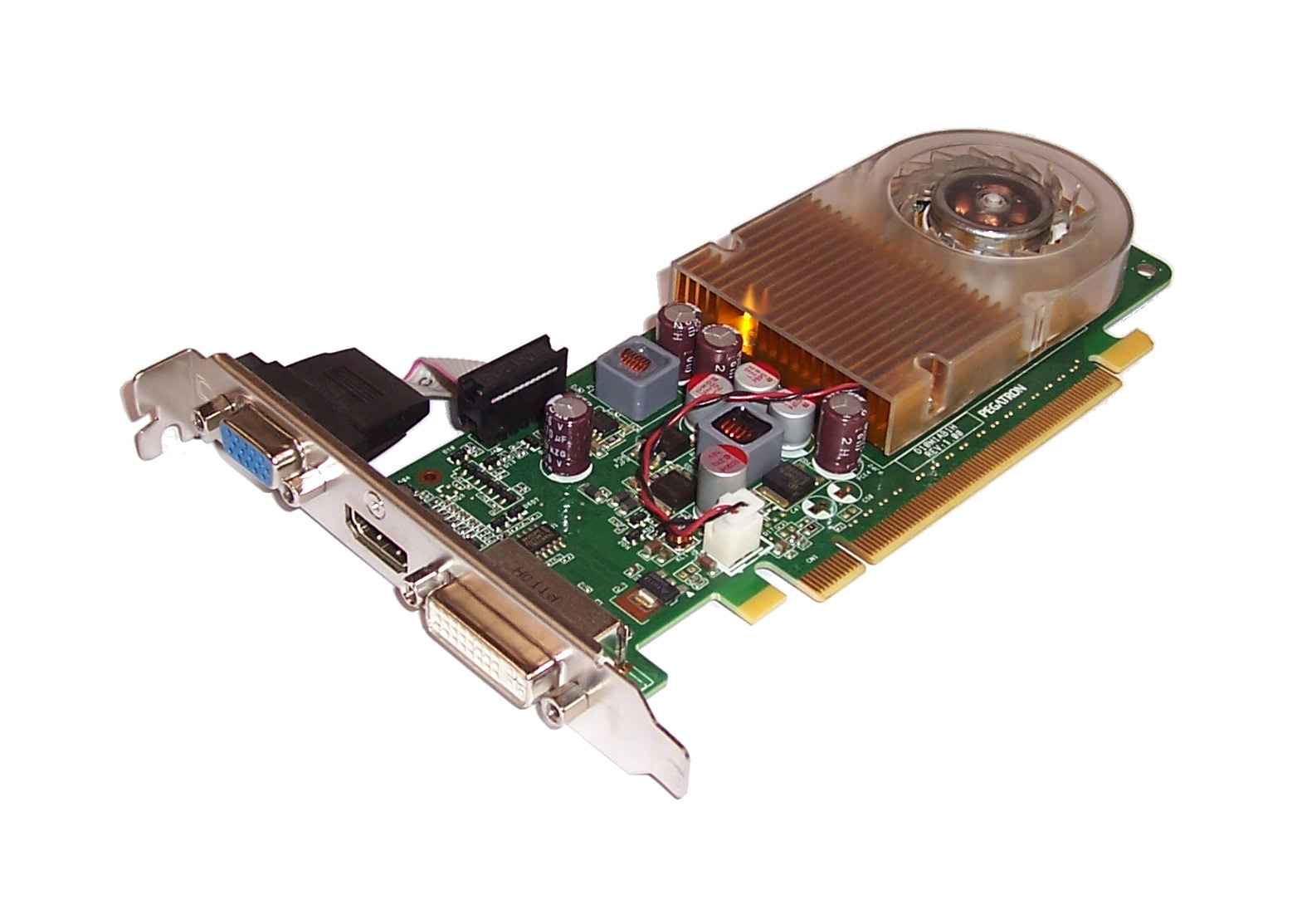 HP 533207-001 nVidia G210 512MB PCIe Graphics Card With DVI, HDMI & VGA Port