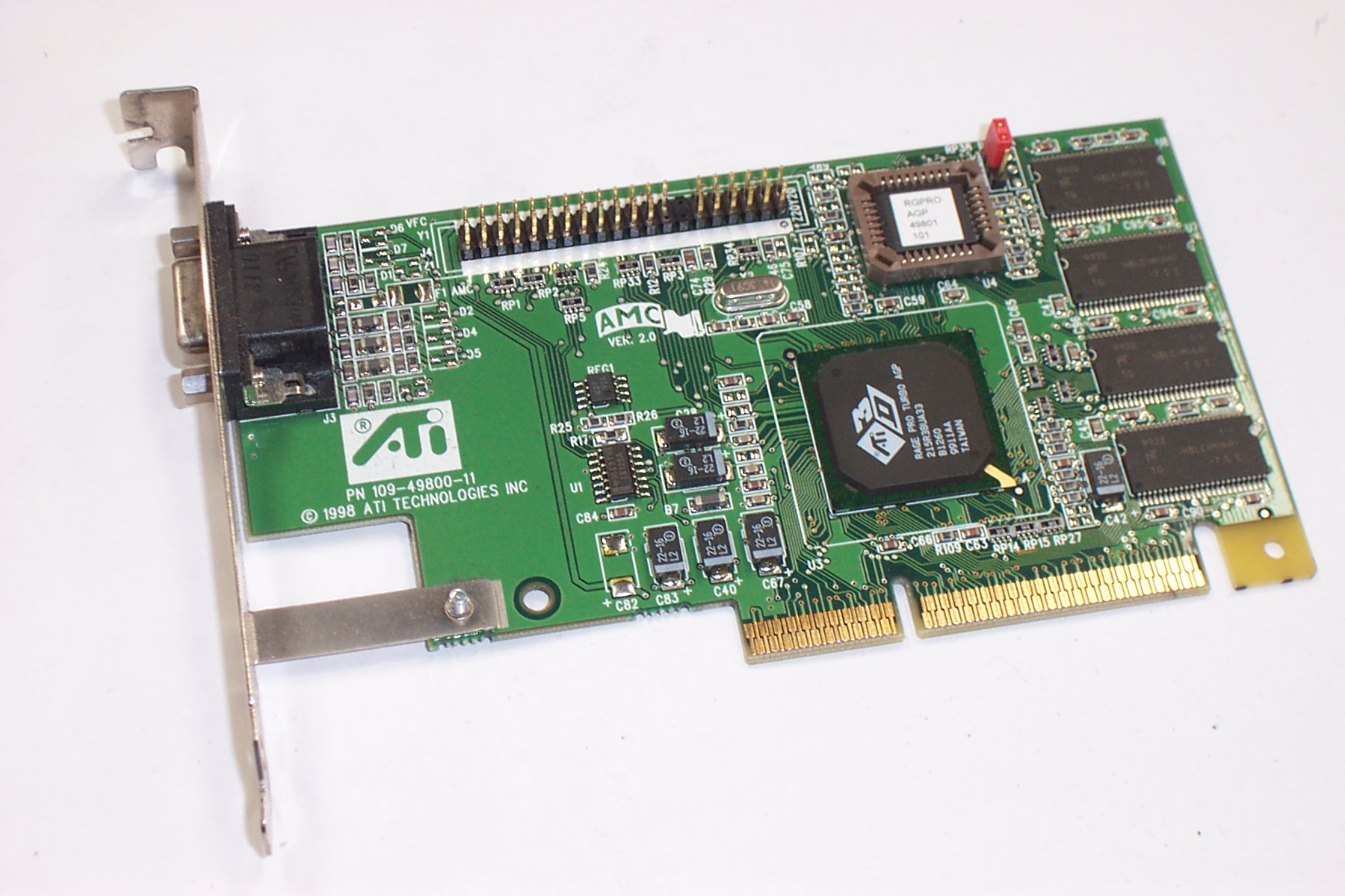 ATI 1024980210 Rage Pro 8MB AGP VGA Graphics Card
