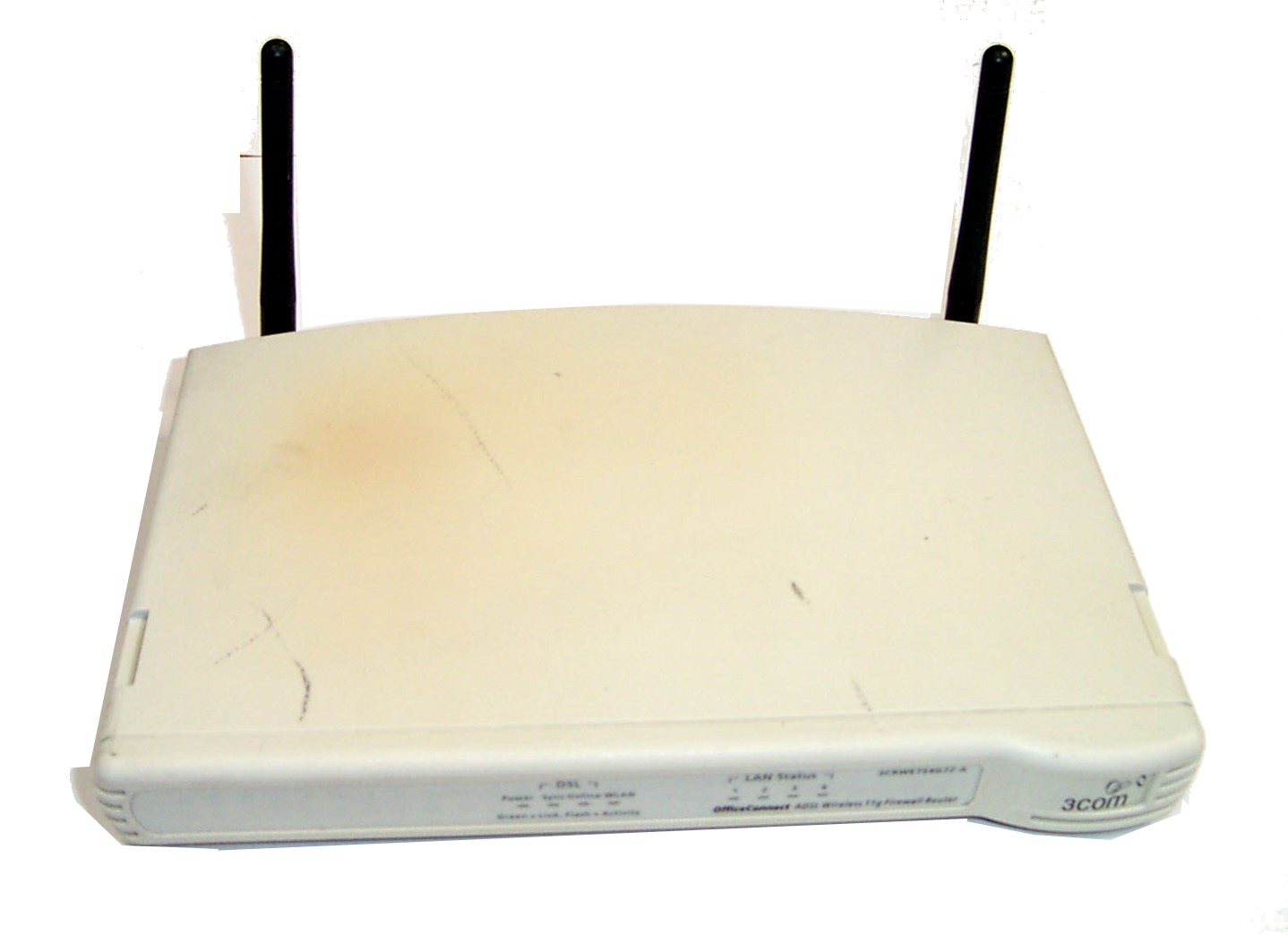 3Com 3CRWE754G72-A Model WL-540A ADSL Wireless 11g Firewall Router-No AC Adapter