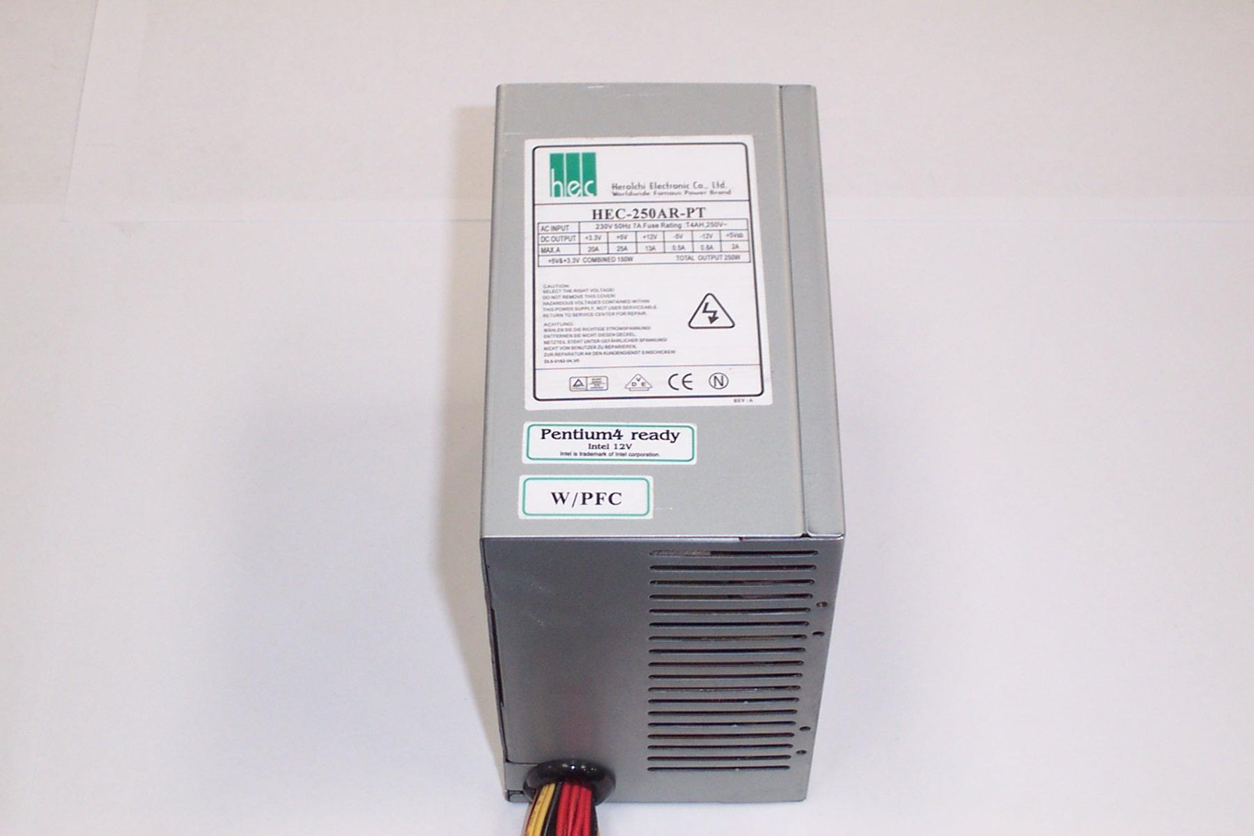 HEC HEC-250AR-PT Pentium 4 250W ATX Power Supply