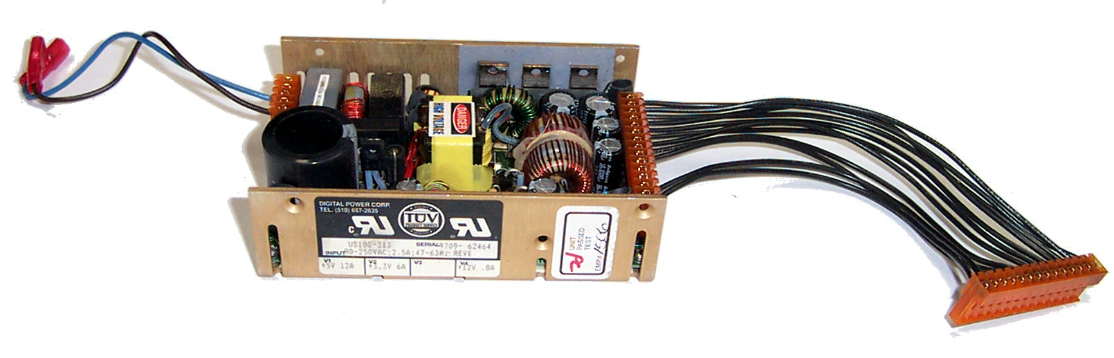 Digital Power US100-313 I/P 90-250VAC 2.5A Power Supply