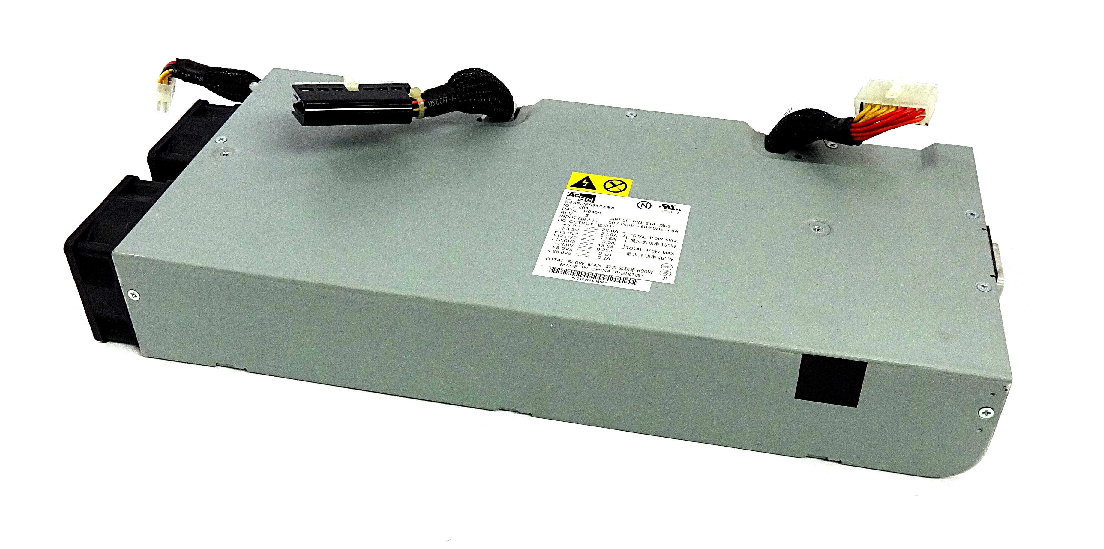 Apple 614-0303 Power Mac G5 600W Max. Power Supply- AcBel Model: API2FS34