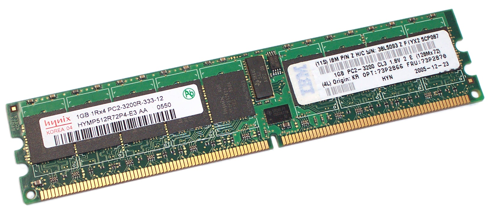 IBM 73P2870 Hynix HYMP512R72P4-E3-AA 1GB PC2-3200 CL3 ECC Registered DDR2 Memory
