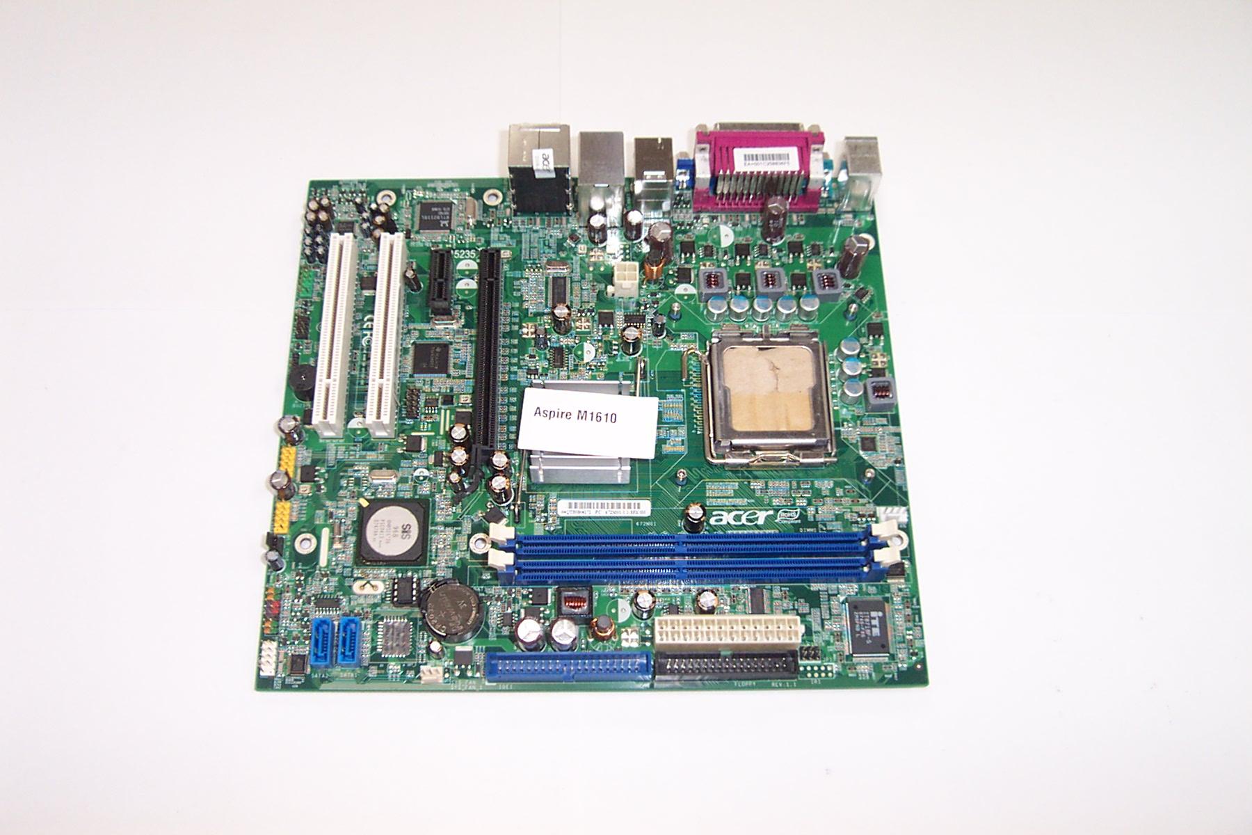 Acer 672M01-1.1-8EKSH Aspire M1610 Socket 775 Motherboard