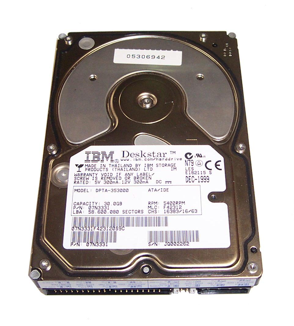 IBM 07N3331 30 0GB Deskstar 37GP DPTA-353000 5400RPM ATA/66 3 5