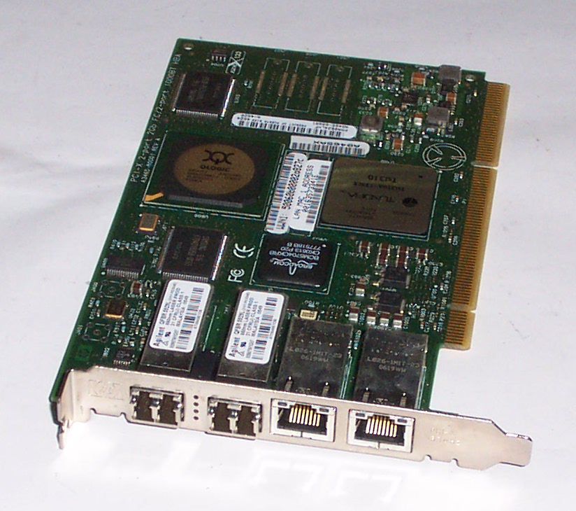 HP AB465A AB465-60001 PCI-X 2-Port 2Gb FC/2-Port 1000BaseT HBA Card