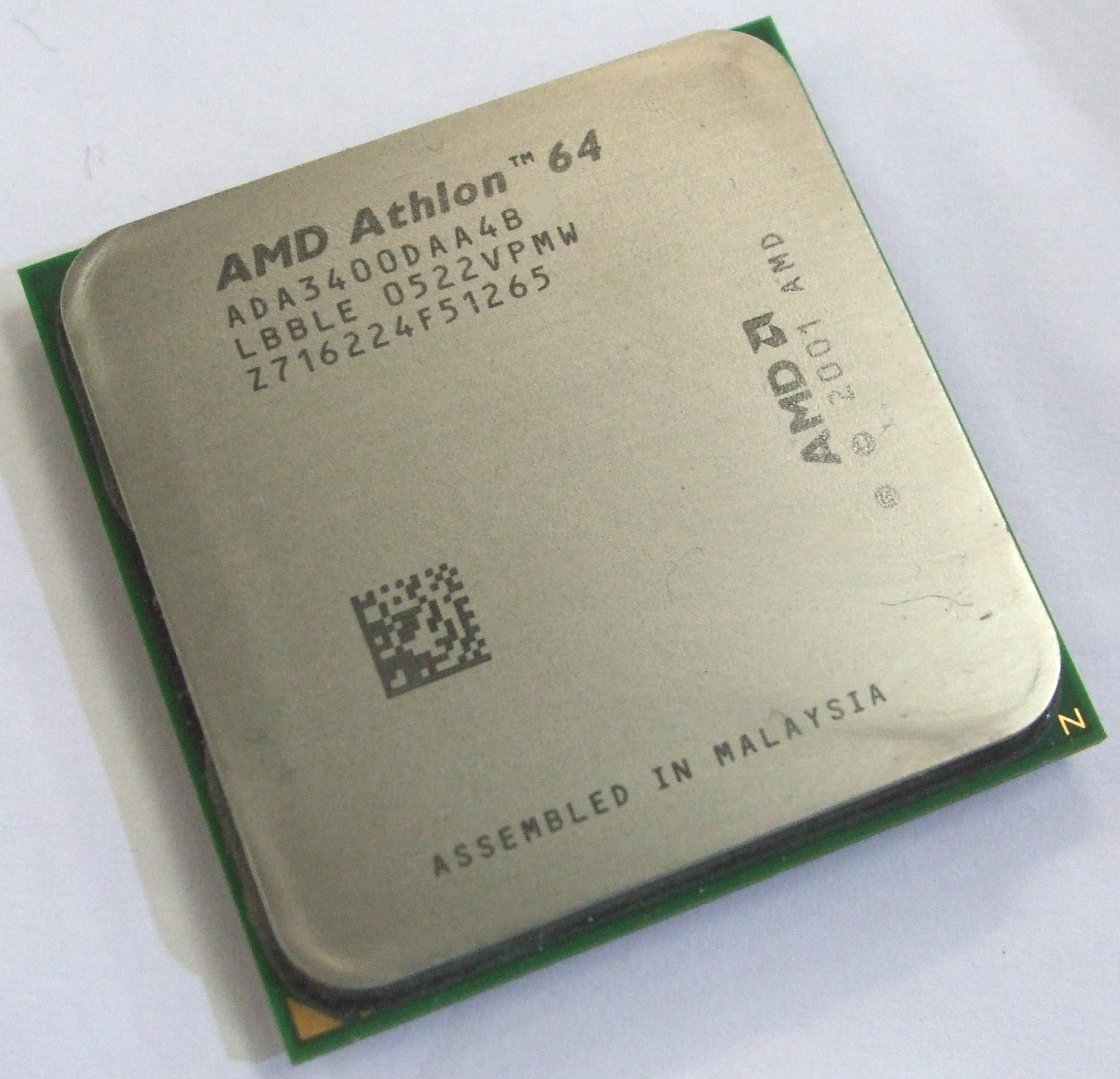 ADA3400DAA4BY AMD Athlon 64 3400 Socket 939 CPU