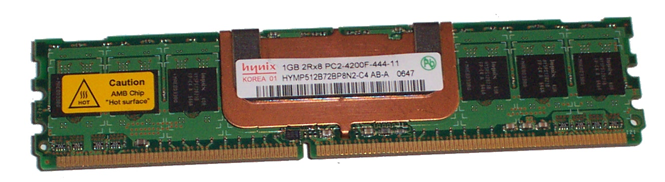 Hynix HYMP512B72BP8N2-C4 1GB DDR2 240p PC2-4200F 533 Fully Buffered ECC Memory