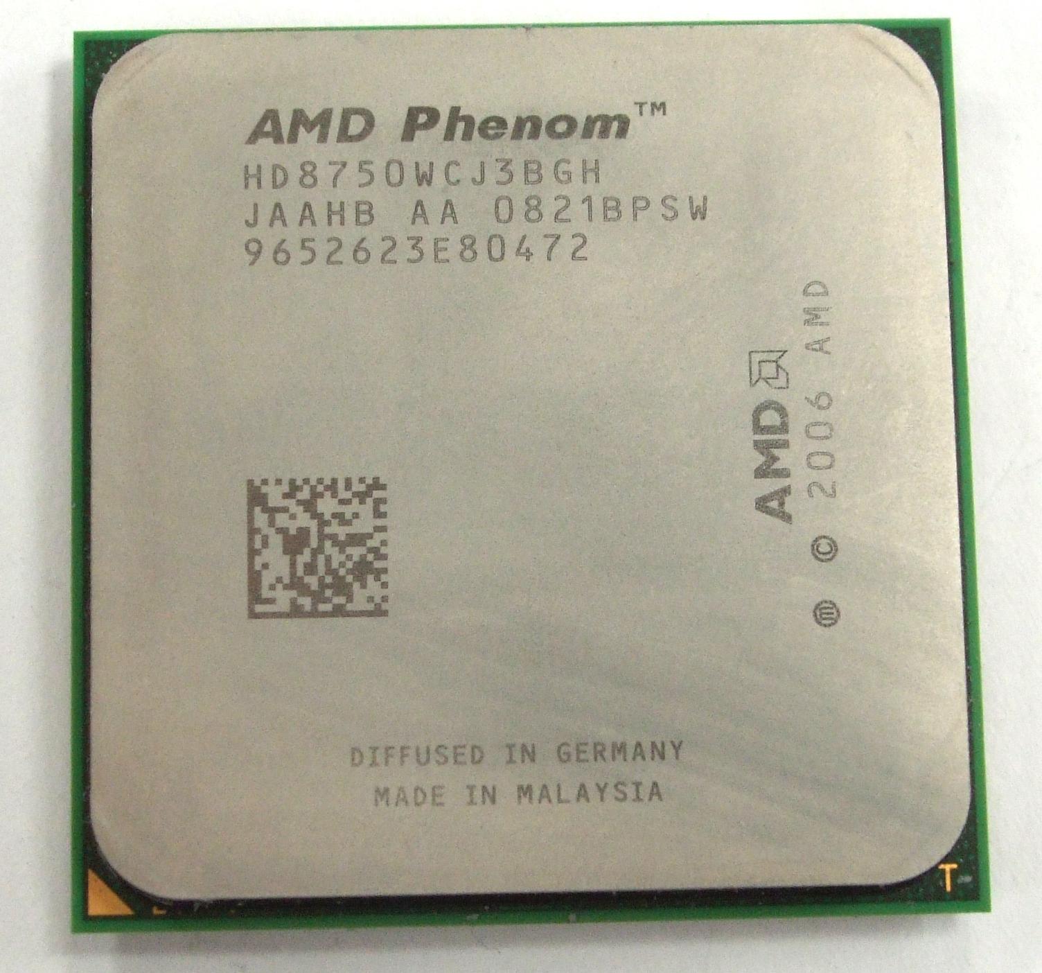HD8750WCJ3BGH AMD Phenom X3 8750 Socket AM2+ Tri-Core Processor