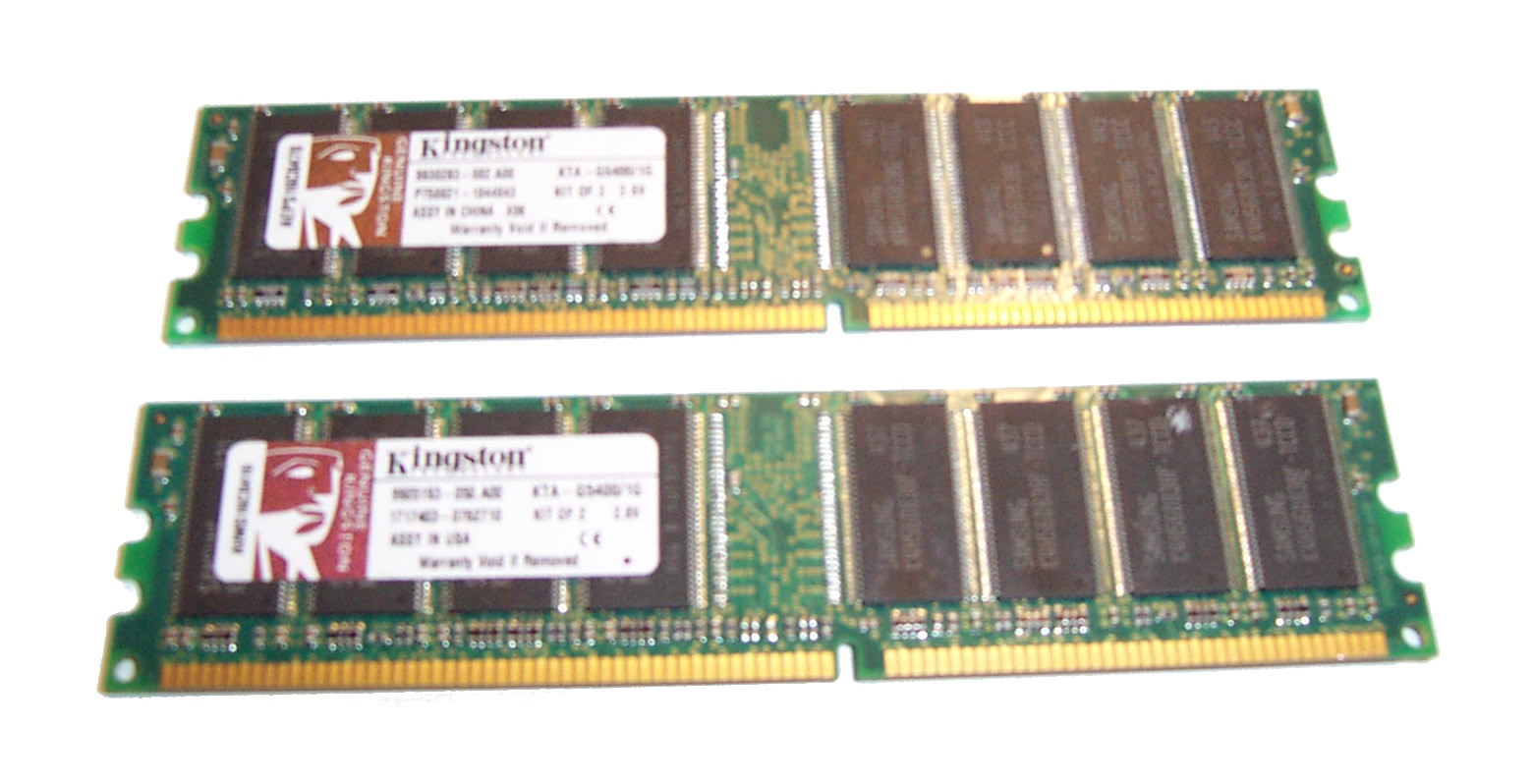 Kingston KTA-G5400/1G 1GB(512 x 2) PC3200 DDR SDRAM- Kit of 2