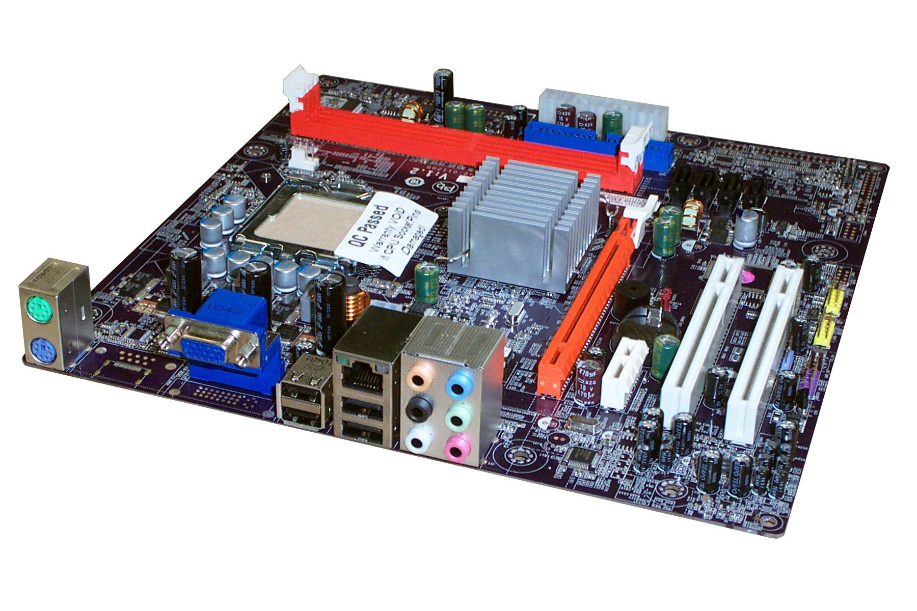 MCP73VT-PM V:1.0 ECS Intel LGA775 PCIe PC Motherboard