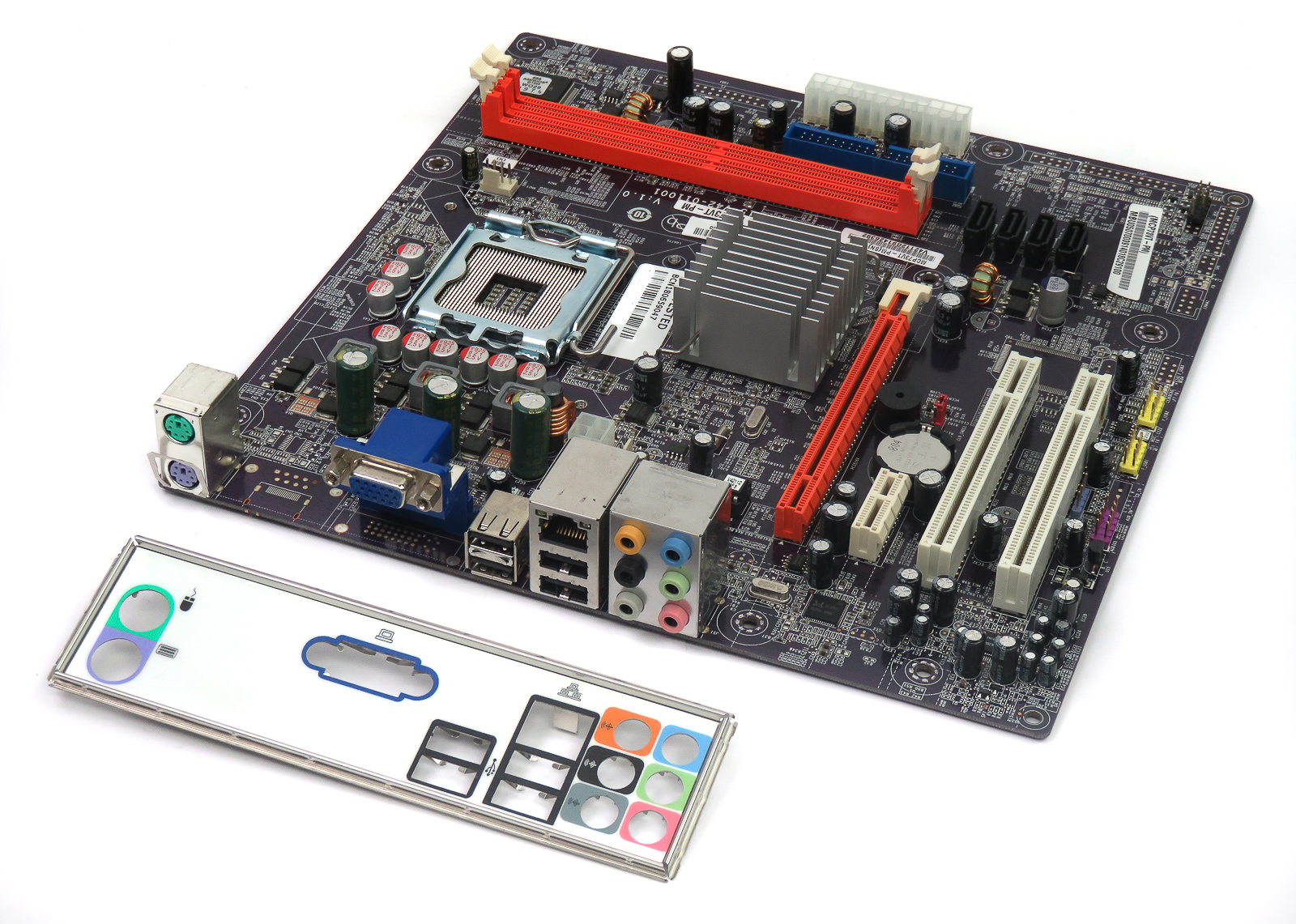 MCP73VT-PM V:1.0 ECS Intel LGA775 PCIe PC Motherboard