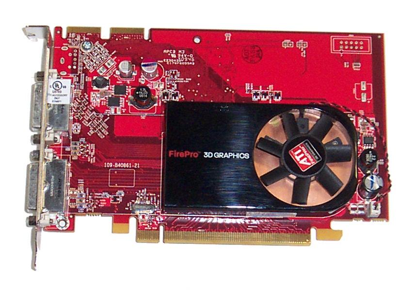 HP 519291-001 PCIe ATI FirePro V3700 256MB Graphics Accelerator Card