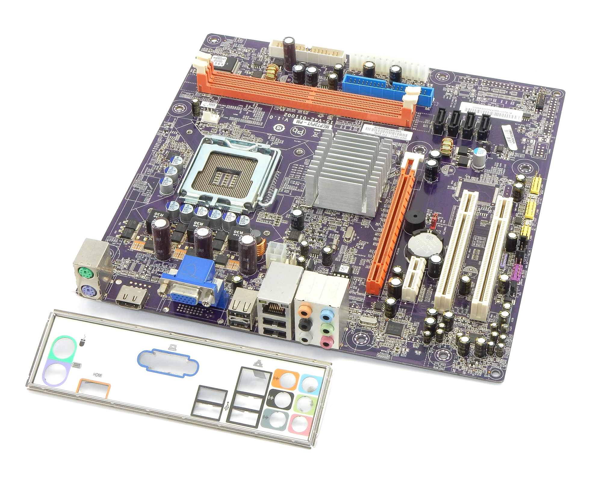 MCP73PVT-PM ECS PC Motherboard Intel LGA775 PCIe Ver:1.0