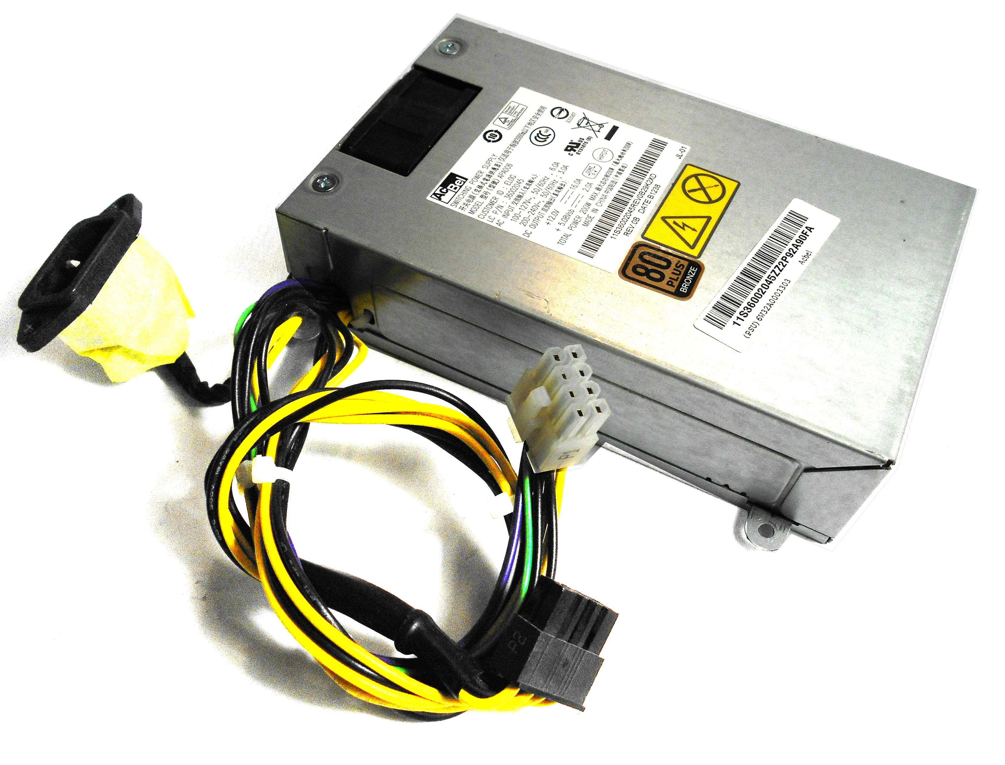 36002045 Lenovo 200W Switching Power Supply - AC Bel APA006