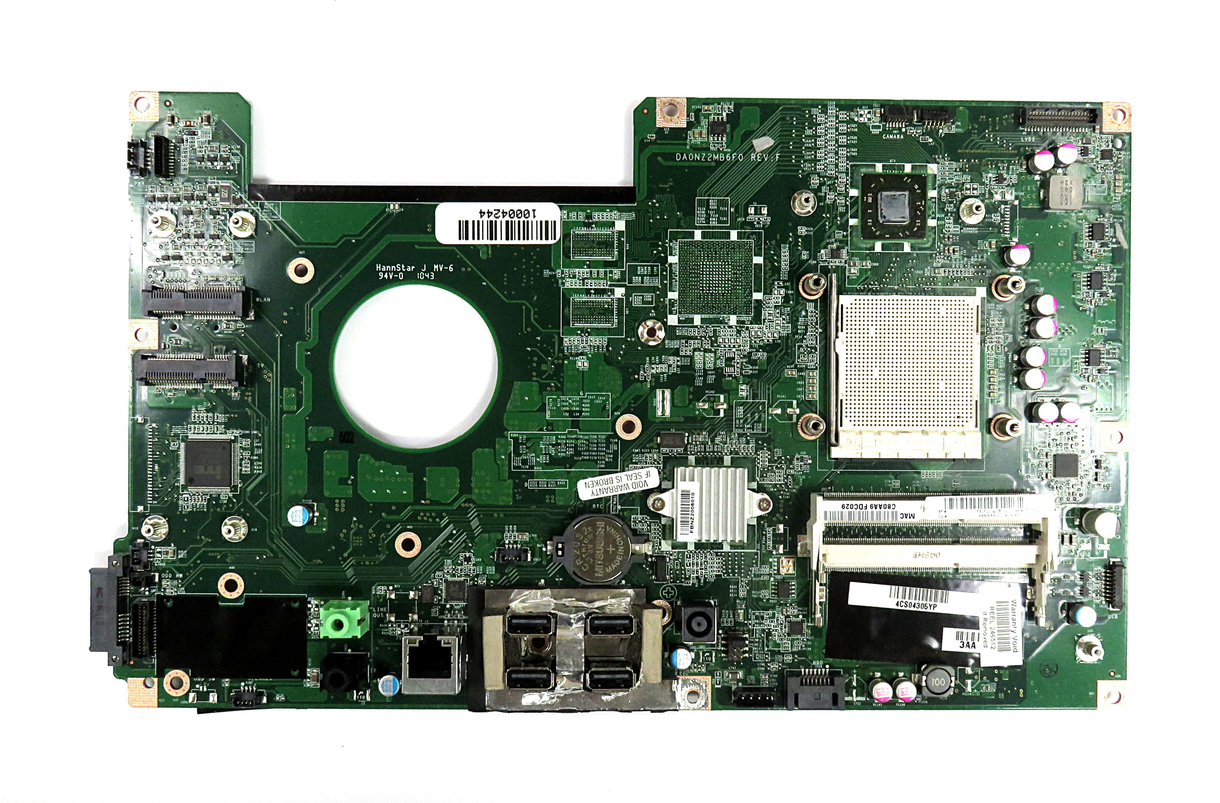 618639-002 DA0NZ2MB6F0 Rev F HP Touchsmart 310 Motherboard