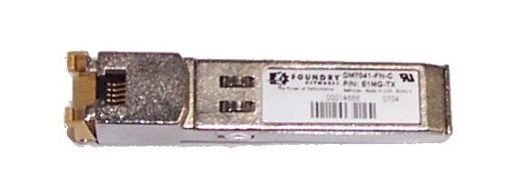 Foundry Networks E1MG-TX 1000Base-T SFP Transcevier Module for EGx4P