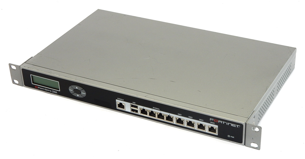 Fortinet FortiGate-200A Firewall Security Appliances With Rack Mount Ears