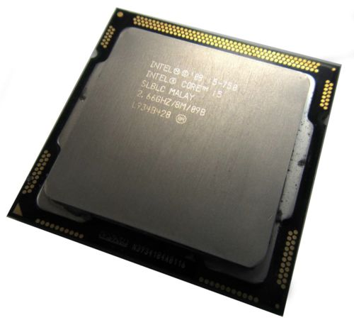 Intel® Core? i5-750 Processor (8M Cache, 2.66 GHz) SLBLC 1156