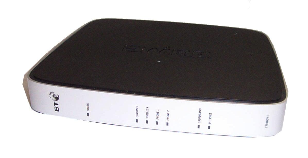 BT 2Wire 2701HGV-C 4-Port Fibre Wireless Router- No Power Supply ...