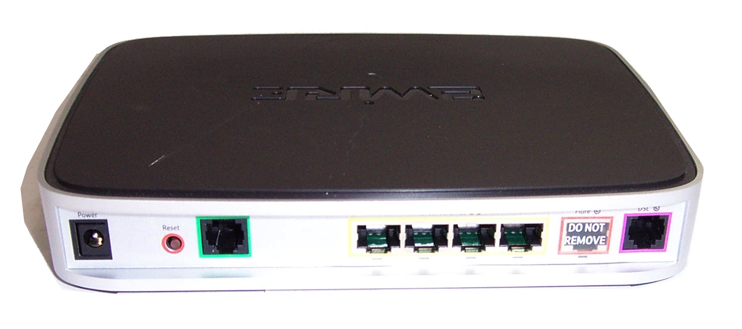 BT 2Wire 2701HGV-C 4-Port Fibre Wireless Router- No Power Supply ...