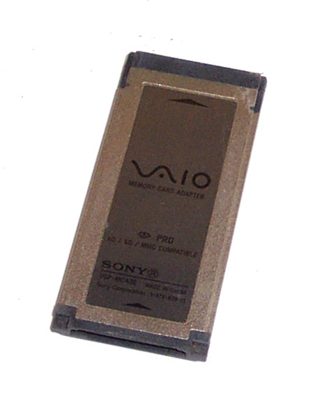 SONY VAIO MEMORY CARD ADAPTER VGP-MCA20 DRIVERS DOWNLOAD (2019)