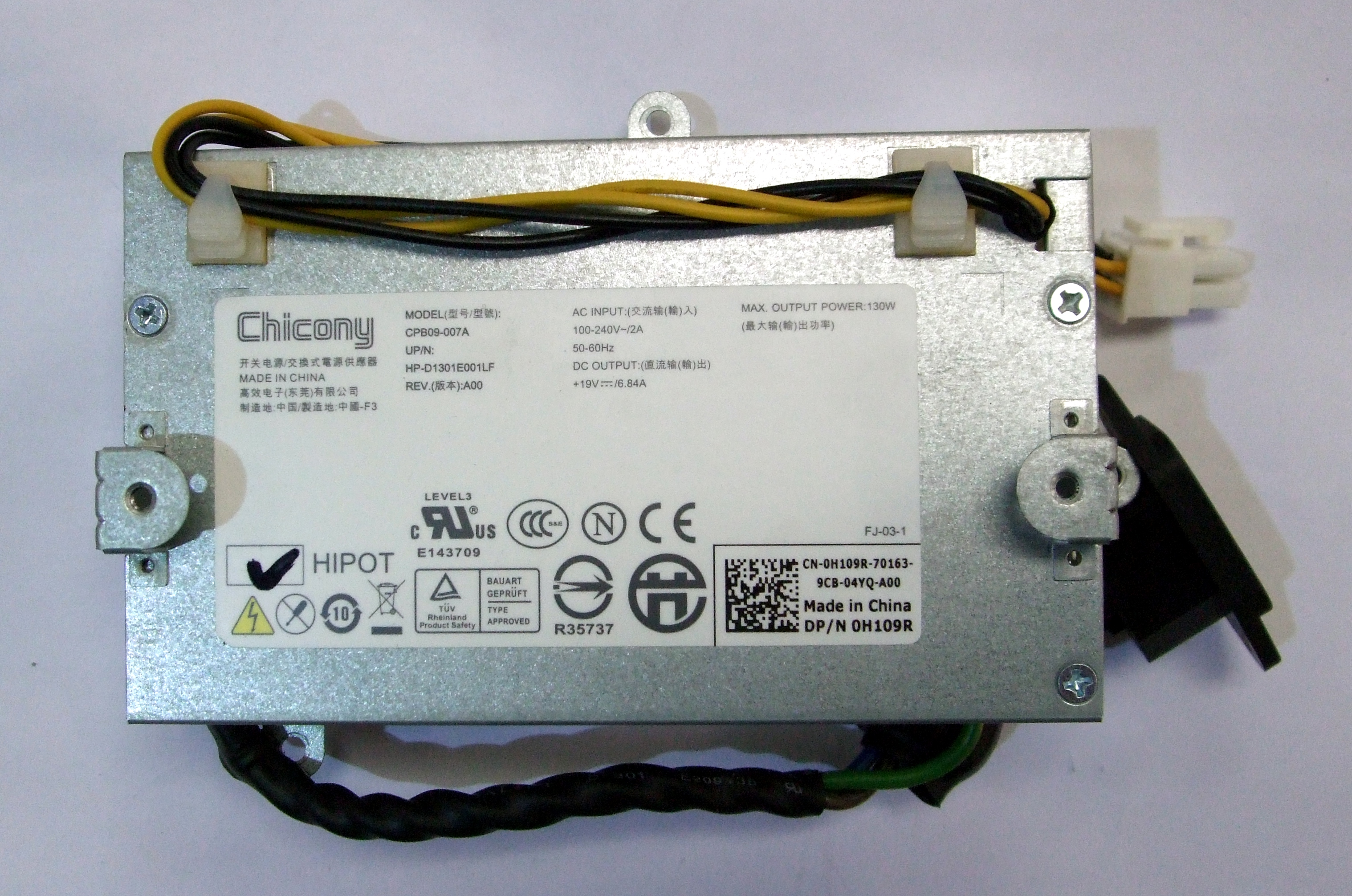 Chicony CPB09-007A Dell H109R 130W Power Supply Unit