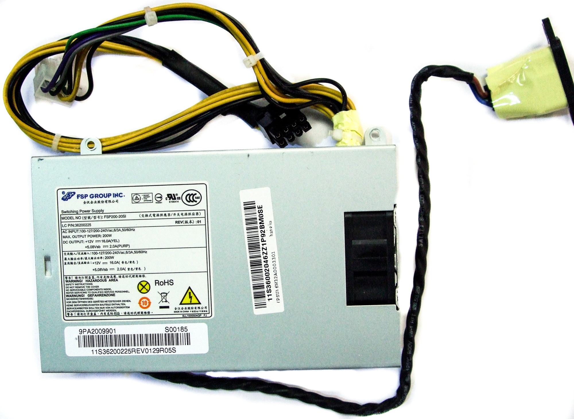 Fsp200 20si Fsp 200w Switching Power Supply Lenovo Ideacentre B540 Supplies 9pa2009901