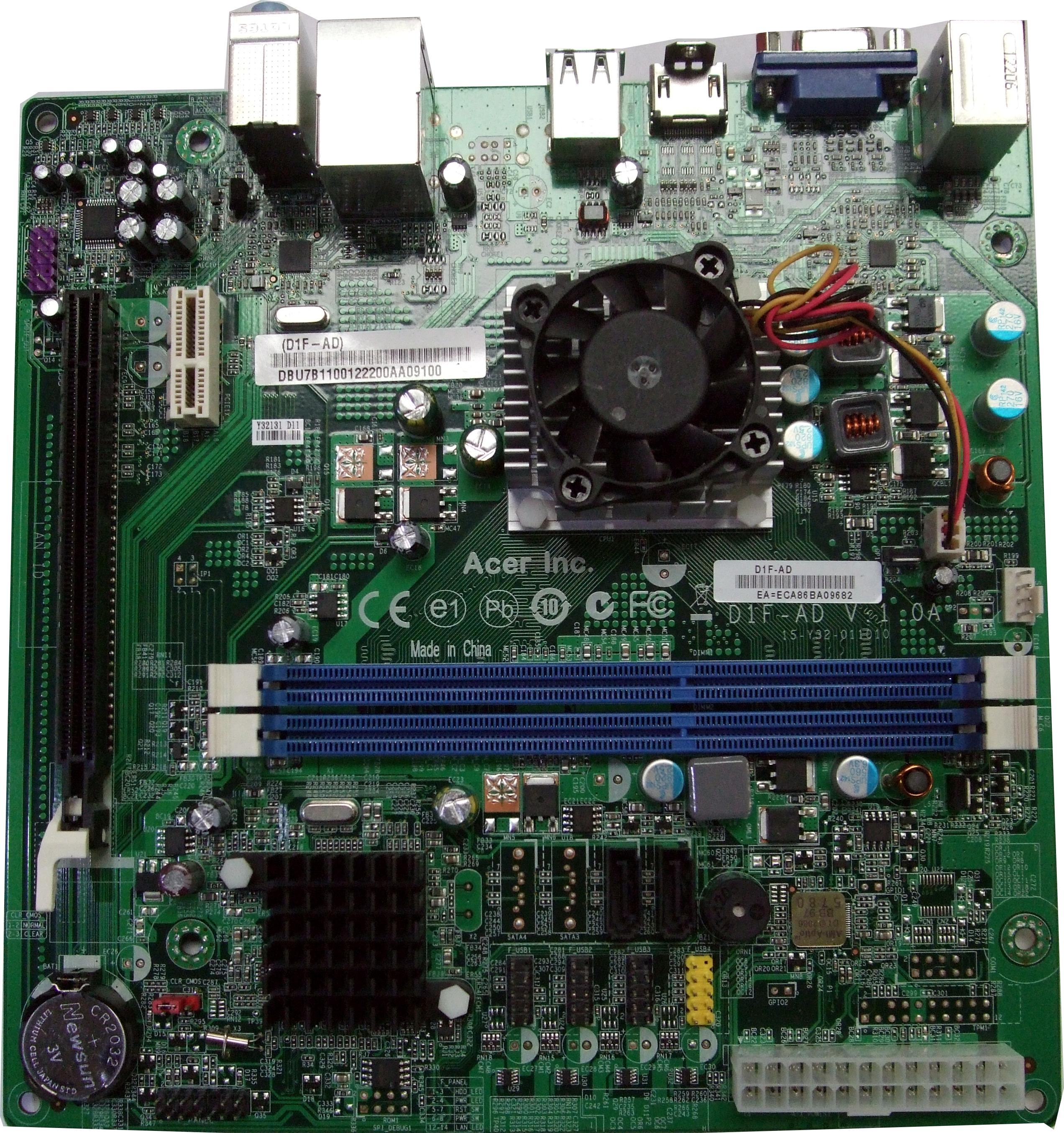 Acer Aspire X1430 X1430G W AMD E-300 1.65Ghz Cpu D1F-AD MB.SHU07.001 Motherboard
