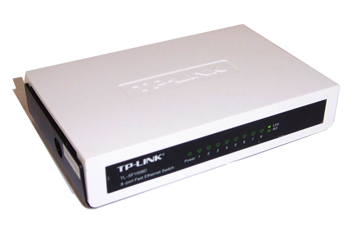 tp link tl sf1008d 8 port fast ethernet switch no ac adapter ebay. Black Bedroom Furniture Sets. Home Design Ideas