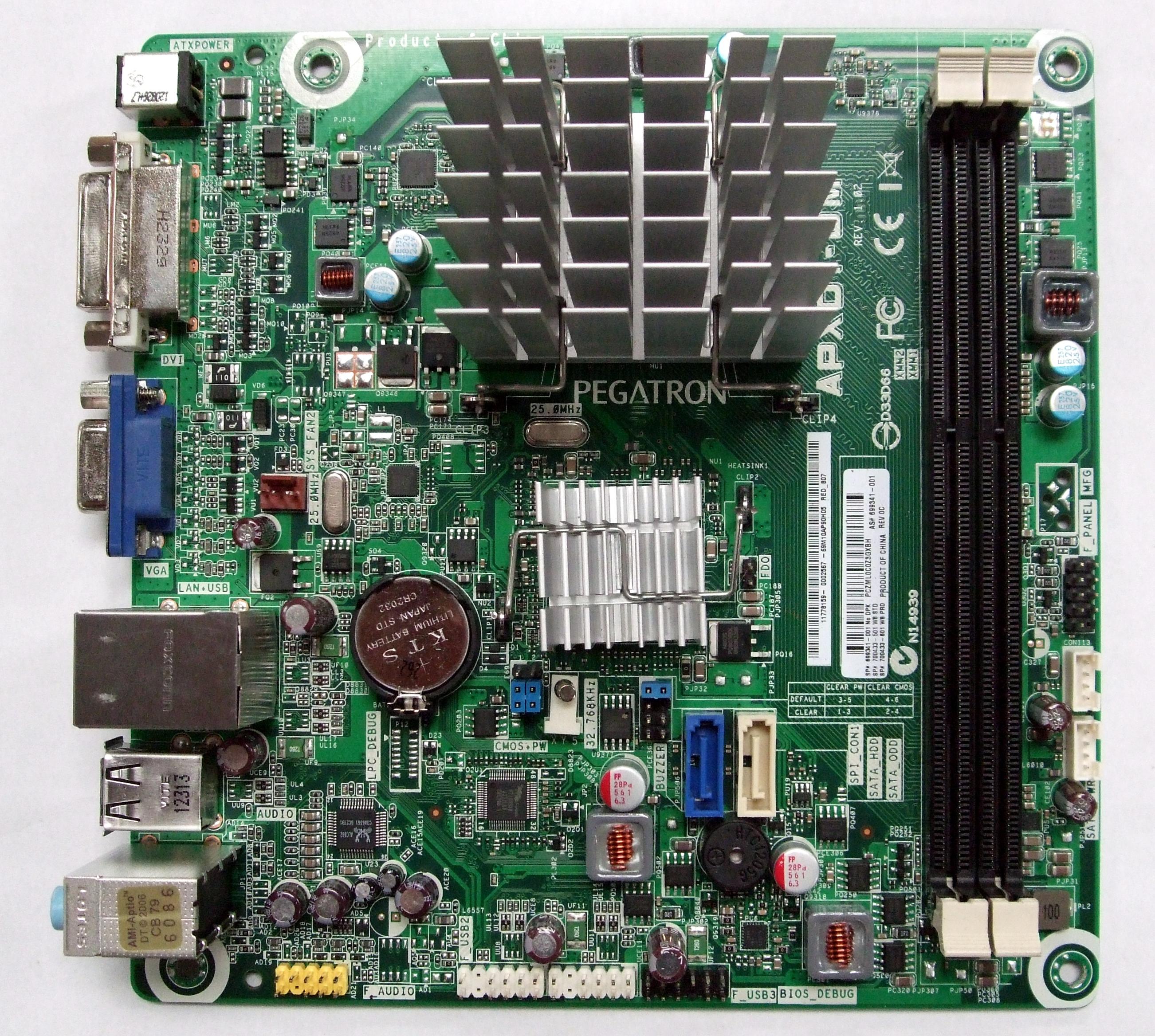 HP 699341-001 APXD1-DM System Motherboard Rev:1.02 w/ AMD E1-1200 APU