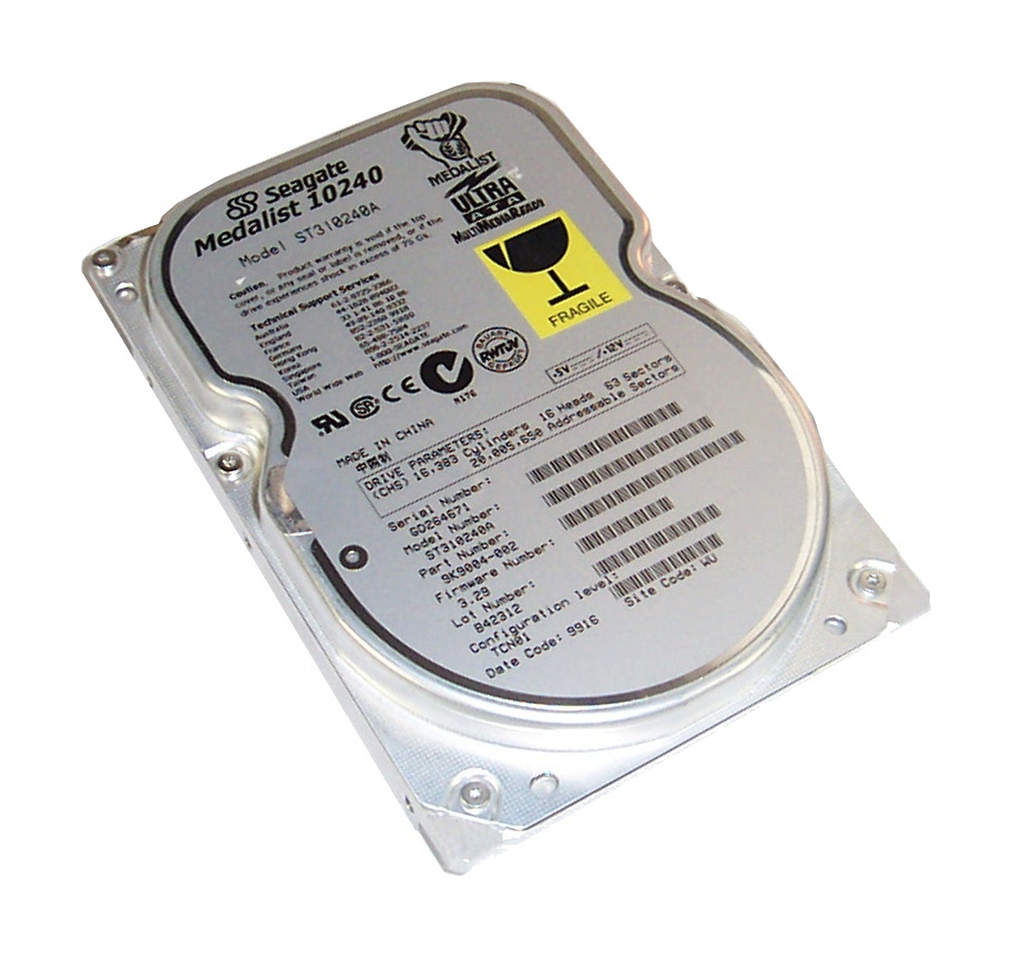 "Seagate ST310240A Medalist 10240 10.2GB 5400RPM IDE 3.5"" Hard Disk Drive"