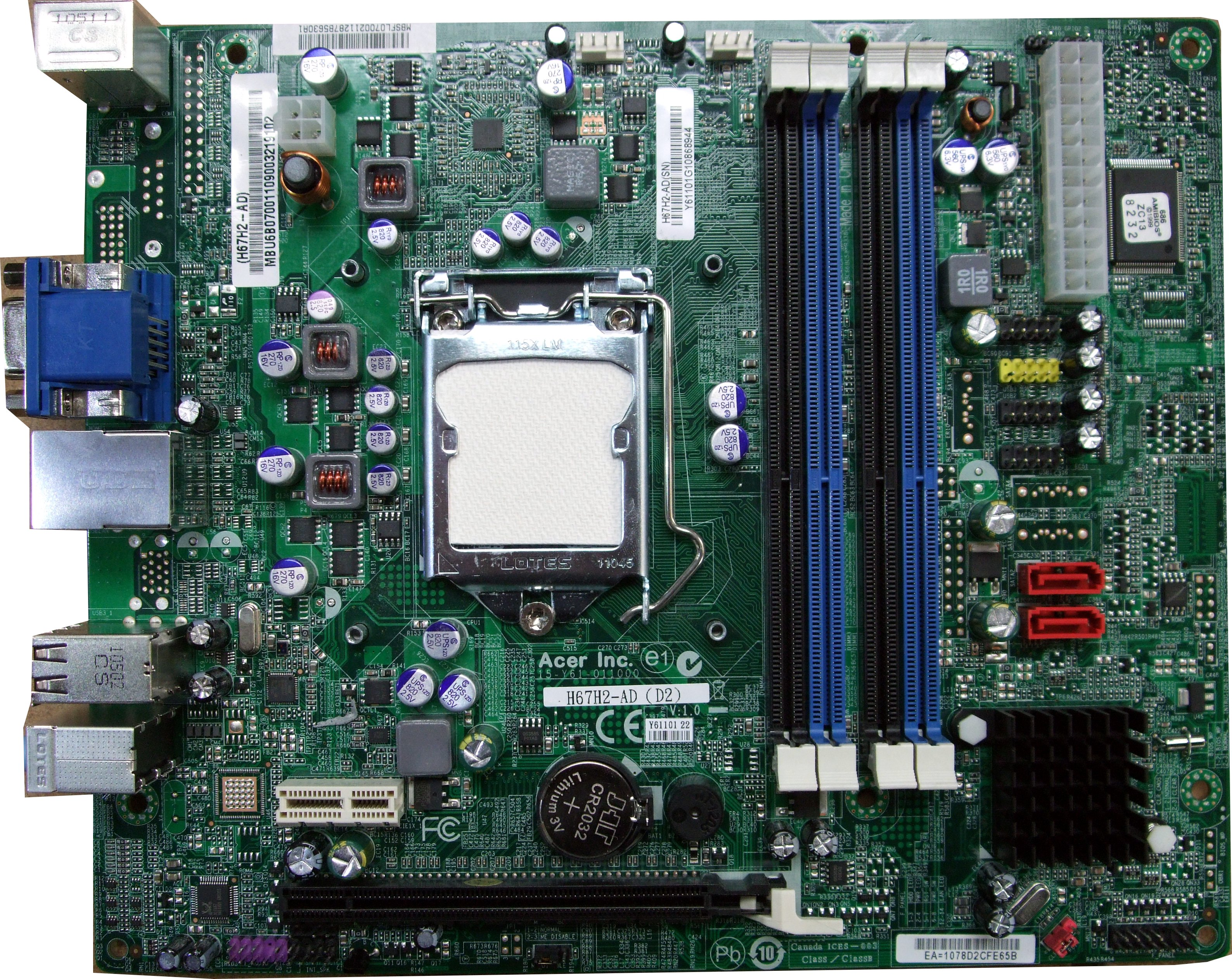 H67H2-AD Packard Bell oneTwo Motherboard L5861 L17526uk Z5761 1155  MB SFM07 001