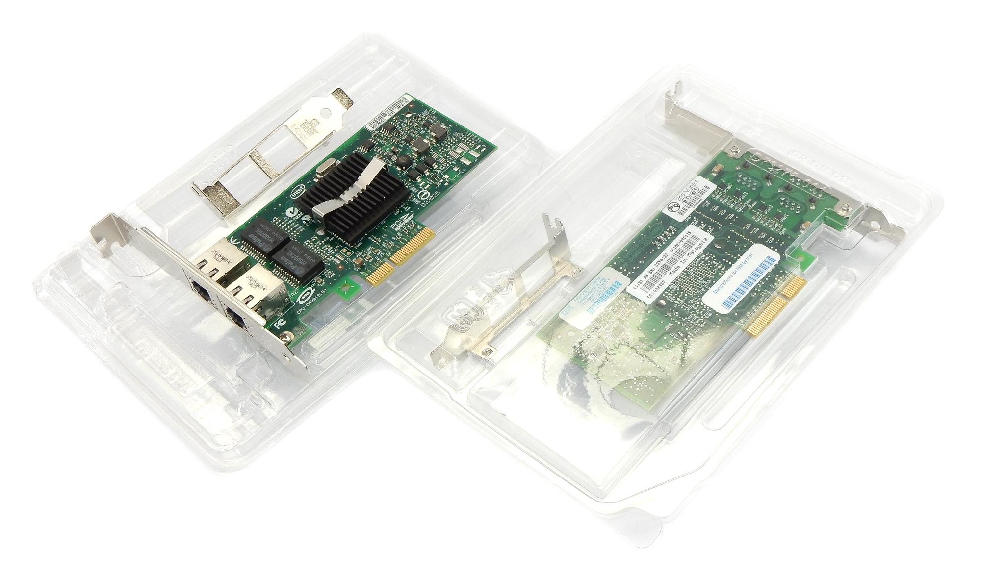 2x New IBM 39Y6127 PCI-e Dual Port Gigabit Ethernet Network Card 39Y6128