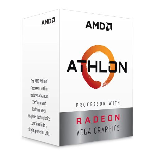 AMD Athlon 3000G CPU, AM4, 3.5GHZ, Dual Core, 35W, 4MB Cache, 14nm, 3rd Gen, VEGA 3 Graphics, Picasso, NO HEATSINK/FAN