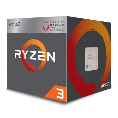 AMD Ryzen 3 2200G CPU with Wraith Cooler, AM4, 3.5GHZ, Quad Core, 65W, 6MB Cache, 14nm, 2nd Gen, VEGA 8 Graphics, Raven Ridge