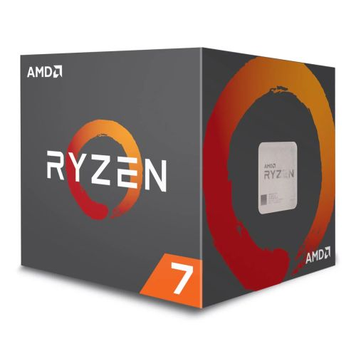 AMD Ryzen 7 2700X CPU with Wraith Cooler, AM4, 3.7GHz (4.3 Turbo), 8-Core, 105W, 20MB Cache, 12nm, RGB Lighting, 2nd Gen, No Graphics, Pinnacle Ridge