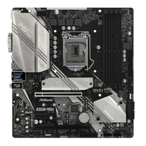 Asrock B365M PRO4, Intel B365, 1151, Micro ATX, 4 DDR4, CrossFire, VGA, DVI, HDMI, M.2, RGB Lighting