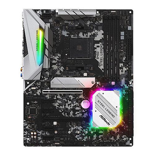 Asrock B450 STEEL LEGEND, AMD B450, AM4, ATX, 4 DDR4, HDMI, DP, XFire, Rock-Solid Durability, RGB Lighting, M.2