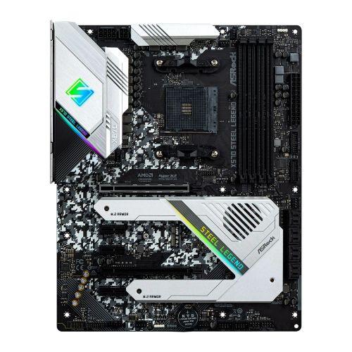 Asrock X570 STEEL LEGEND, AMD X570, AM4, ATX, 4 DDR4, HDMI, DP, XFire, RGB Lighting, PCIe4, Rock-Solid Durability, M.2