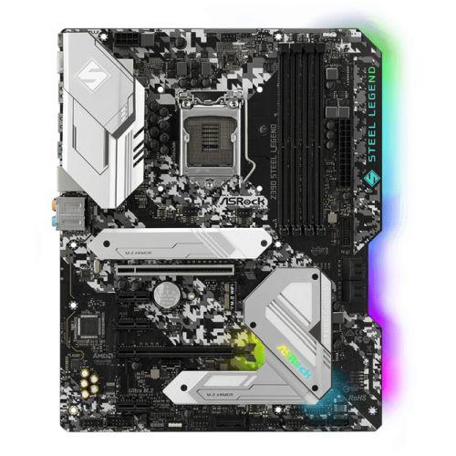 Asrock Z390 STEEL LEGEND, Intel Z390, 1151, ATX, XFire, HDMI, DP, USB 3.2, RGB Lighting, Rock-Solid Durability, M.2