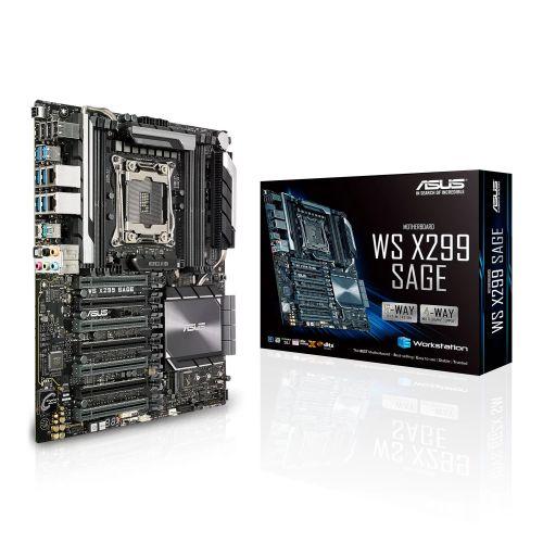 Asus X299-WS SAGE, Workstation, Intel X299, 2066, CEB, DDR4, 7 x PCIe, Dual U.2, Dual LAN, M.2
