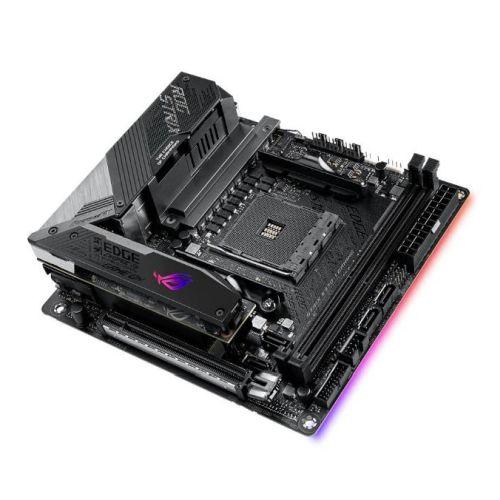 Asus ROG STRIX X570-I GAMING, AMD X570, AM4, Mini ITX, 4 DDR4, HDMI, DP, SLI/XFire, Wi-Fi, 2.5GB LAN, PCIe4, RGB Lighting