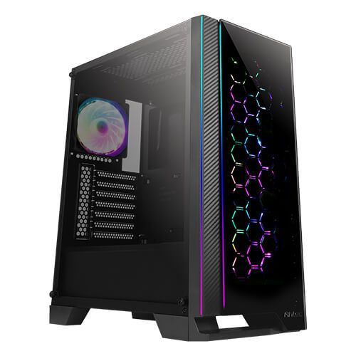 Antec NX600 ATX Gaming Case with Glass Window & Front Panel, No PSU, 4 x ARGB Fa