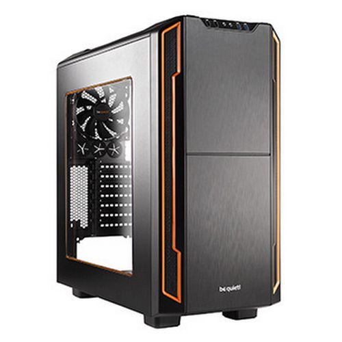 Be Quiet! Silent Base 600 Gaming Case with Window, ATX, No PSU, Tool-less, 2 x Pure Wings 2 Fans, Orange Trim